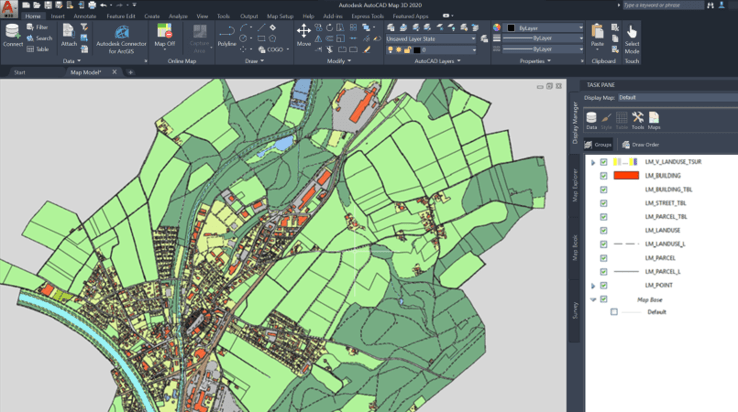 Mapping out GIS data with CAD & BIM